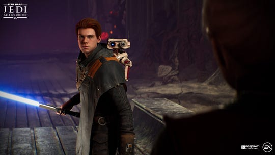 In the new video game 'Star Wars Jedi: Fallen Order,' players take the role of a Cal Kestis, a Jedi trying to rebuild the Jedi order. The droid, BD-1, is your companion and helper.