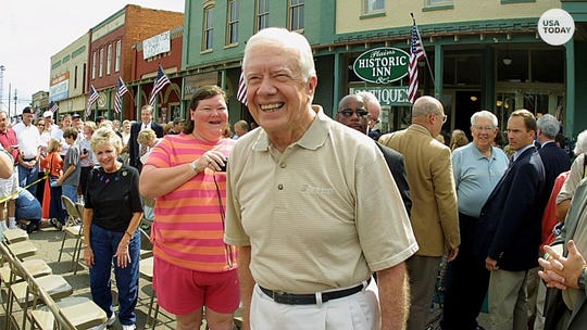 Former President Jimmy Carter is proud of being from the small town of Plains, Georgia, and the feeling is mutual.