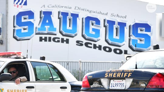 A detective and two off-duty officers helped save the children of Saugus High School