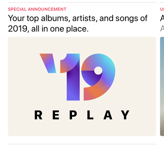 Apple Music's new Replay feature will show your most-played music of 2019