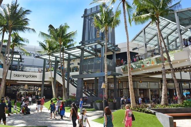 """Bialow says that for many Asian tourists, Hawaii's Ala Moana Center is the """"first stop in the U.S. and the first time they've seen American and European brands."""""""
