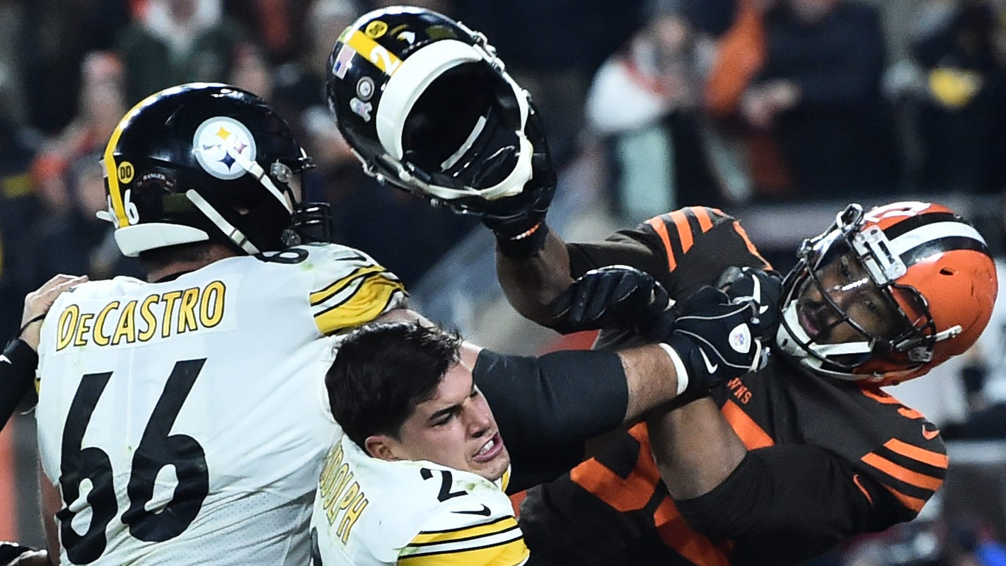 Myles Garrett faces historic penalties after Browns-Steelers brawl