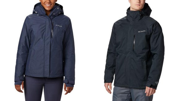 Stay warm with this insulated coat.