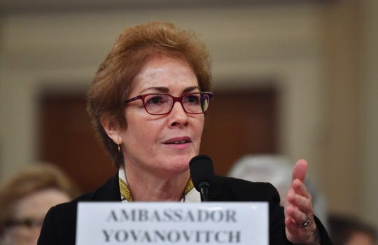 Former US Ambassador to the Ukraine Marie Yovanovitch testifies before the House Intelligence Committee as part of the impeachment inquiry into President Donald Trump, Nov. 15, 2019