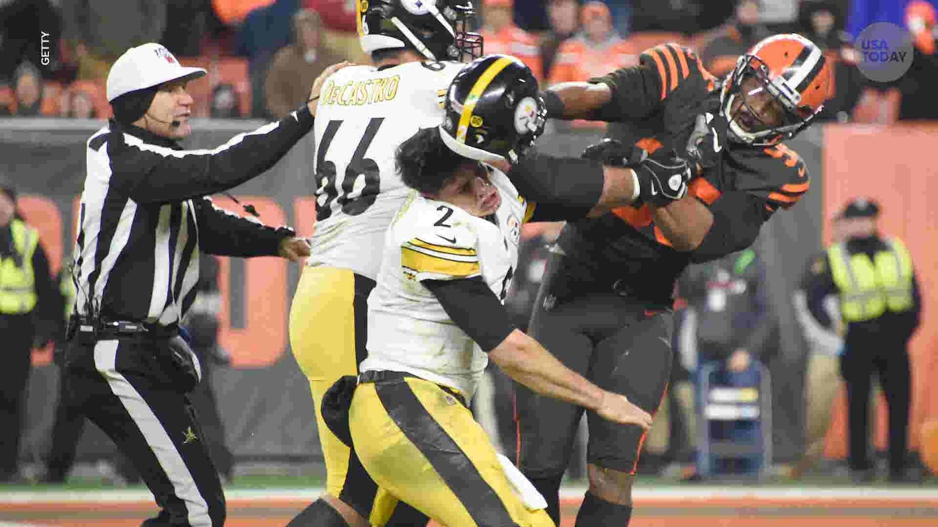 Browns' Myles Garrett, Steelers' Mason Rudolph brawl: NFL reactions