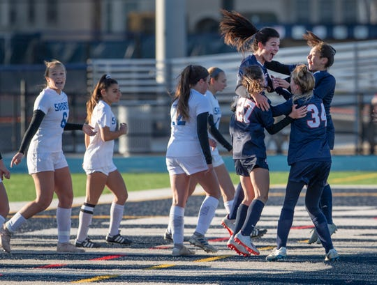 Shore Regional girls soccer vs. Mountain Lakes in the NJSIAA Group I State Final in Union, NJ on November 16, 2019.