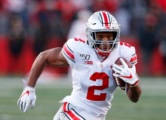 J.K. Dobbins has nearly 1,300 rushing yards and 13 rushing touchdowns for Ohio State, plus two touchdown catches.