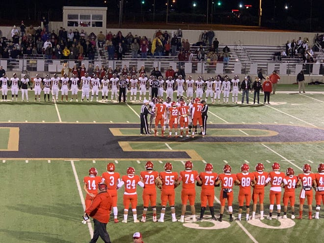 Anson faced Friona in the Region I-3A Division II bi-district playoff on Friday, Nov. 16, 2019, at Jimmie Redman Stadium in Post. Friona won,  37-22.