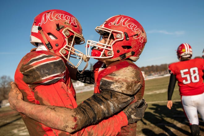 Colon defeated Morrice 27-8 in the 8-player Division 1 state semifinal on Saturday, Nov. 16, 2019 at Colon High School in Colon, Mich.
