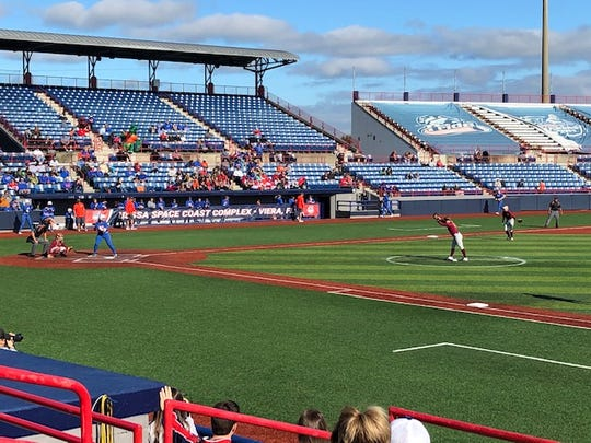 It was a perfect day for softball in Viera as the Florida Gators faced the Florida State Seminoles.