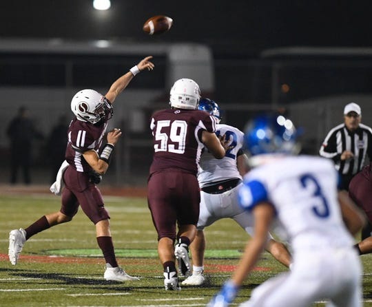Sinton faced Port Isabel in a Class 4A Division I bi-district playoff game at Buc Stadium in Corpus Christi, Texas on Friday, Nov. 15, 2019.