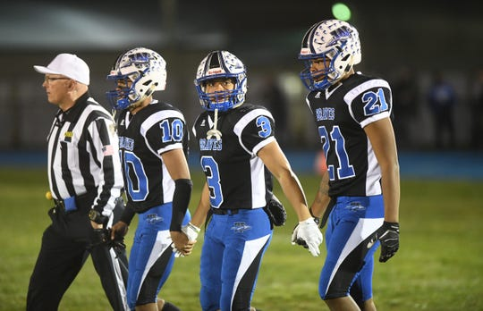 The Williamstown High School football team defeated Vineland, 34-14, in the South Jersey Group 5 football semi-final game played at Williamstown High School on Friday, November 15, 2019.