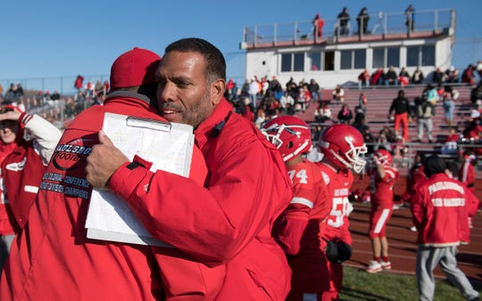 Paulsboro High School football coach Glenn Howard earned his 300th win as Paulsboro defeated Gateway, 28-8, in the South Jersey Group 1 semi-final game played at Paulsboro High School on Saturday, November 16, 2019.