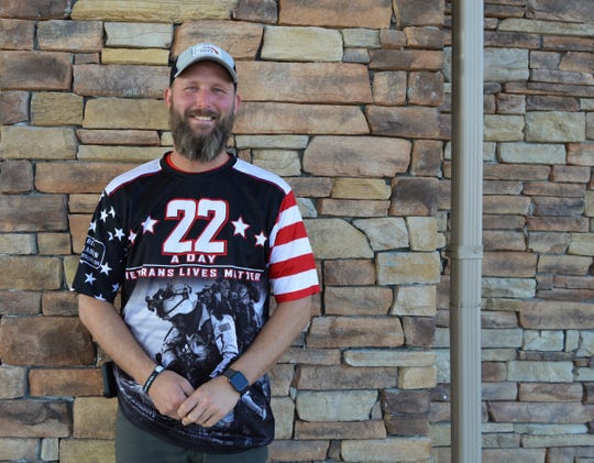 Jeremy Miller is a United States Army Veteran who's been walking across America since May 22 to raise awareness about veteran suicide.