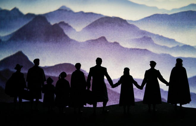"""Scene of the Richard Rogers musical """"The Sound of Music"""" with the Trapp family during a dress rehearsal, on Friday, Feb. 25, 2005, at Vienna's Volksoper. Premiere is on Saturday,  Feb. 26, 2005."""