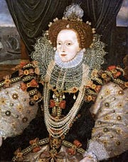 Queen Elizabeth I of England, painted by George Gower, c. 1588.