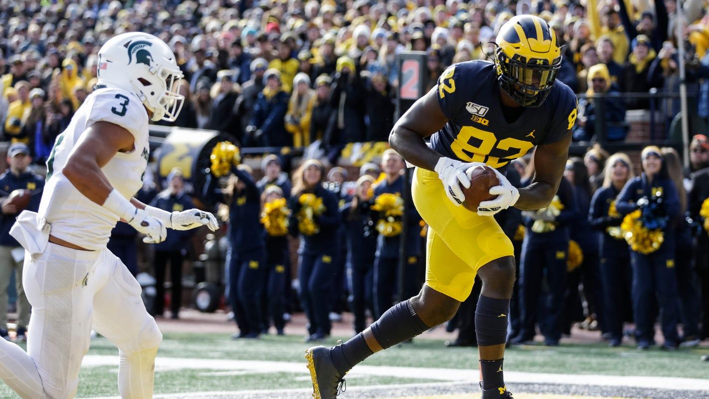 Michigan football pummels Michigan State, 44-10: How it ...