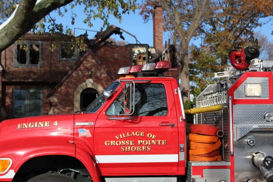 Fire departments from several communities were dispatched to two separate blazes in Grosse Pointe Shores Saturday morning.