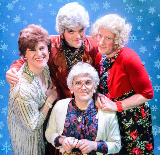 "The cast of ""A Very Golden Girls Christmas,"" clockwise from left: Richard Payton, Andy Fillmore, Brandy Joe Plambeck and Christopher Kamm."