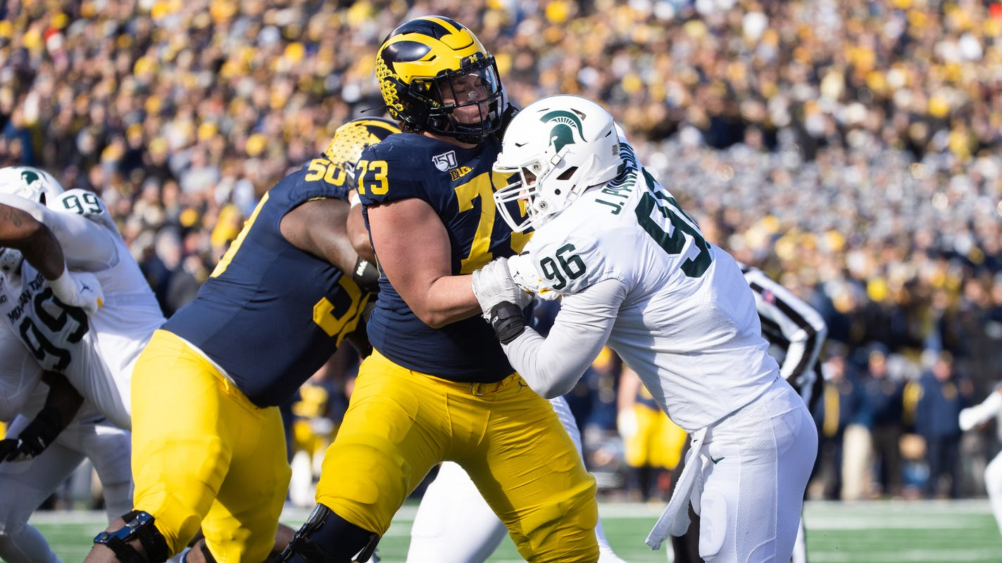 Michigan football's offensive line was a strength in 2019. Now, there are many questions