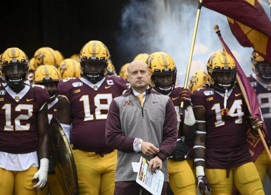 Minnesota head coach P.J. Fleck, formerly the coach at Western Michigan, has the Big Ten championship game in his sights.