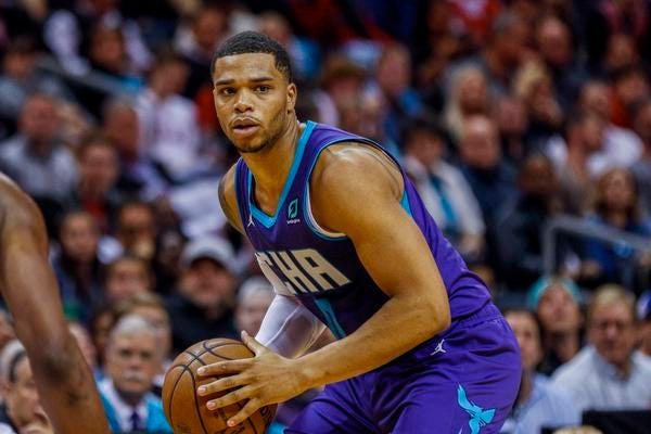 Hornets forward Miles Bridges has started all 12 games for the Hornets this season, including Friday's matchup against the Pistons.
