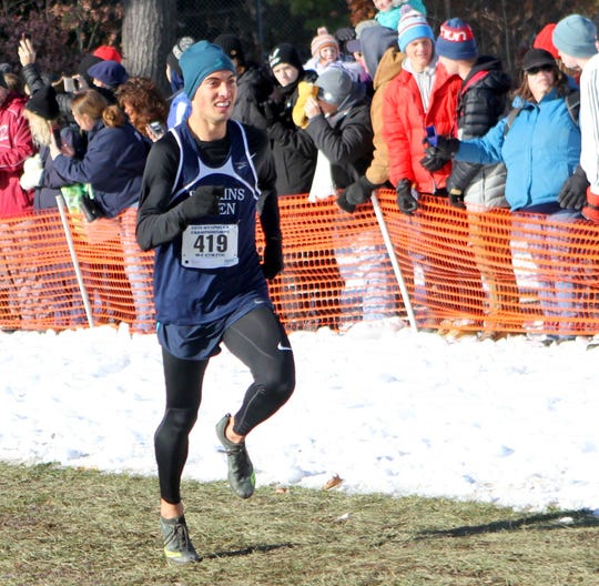 Gabe Planty of Watkins Glen takes sixth in the Class C boys race at the New York state championship meet Nov. 16, 2019 at SUNY Plattsburgh.