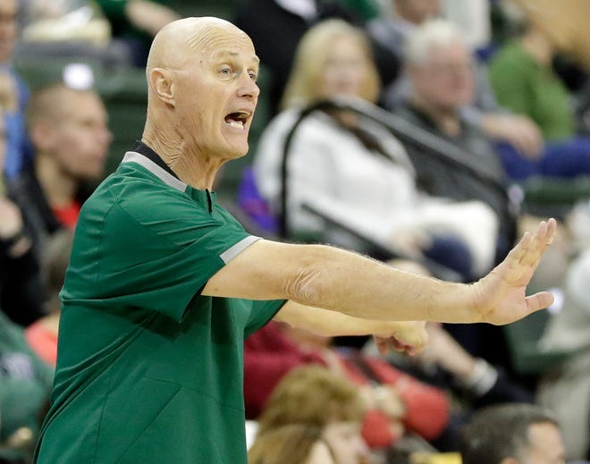 UWGB women's basketball coach Kevin Borseth and his team will play six of its next seven games on the road.