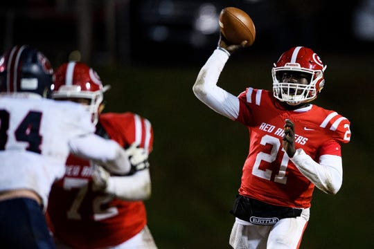 Greenville's Tennelle Franklin (21) attempts to throw the ball during their game against BHP Friday, Nov. 15, 2019.