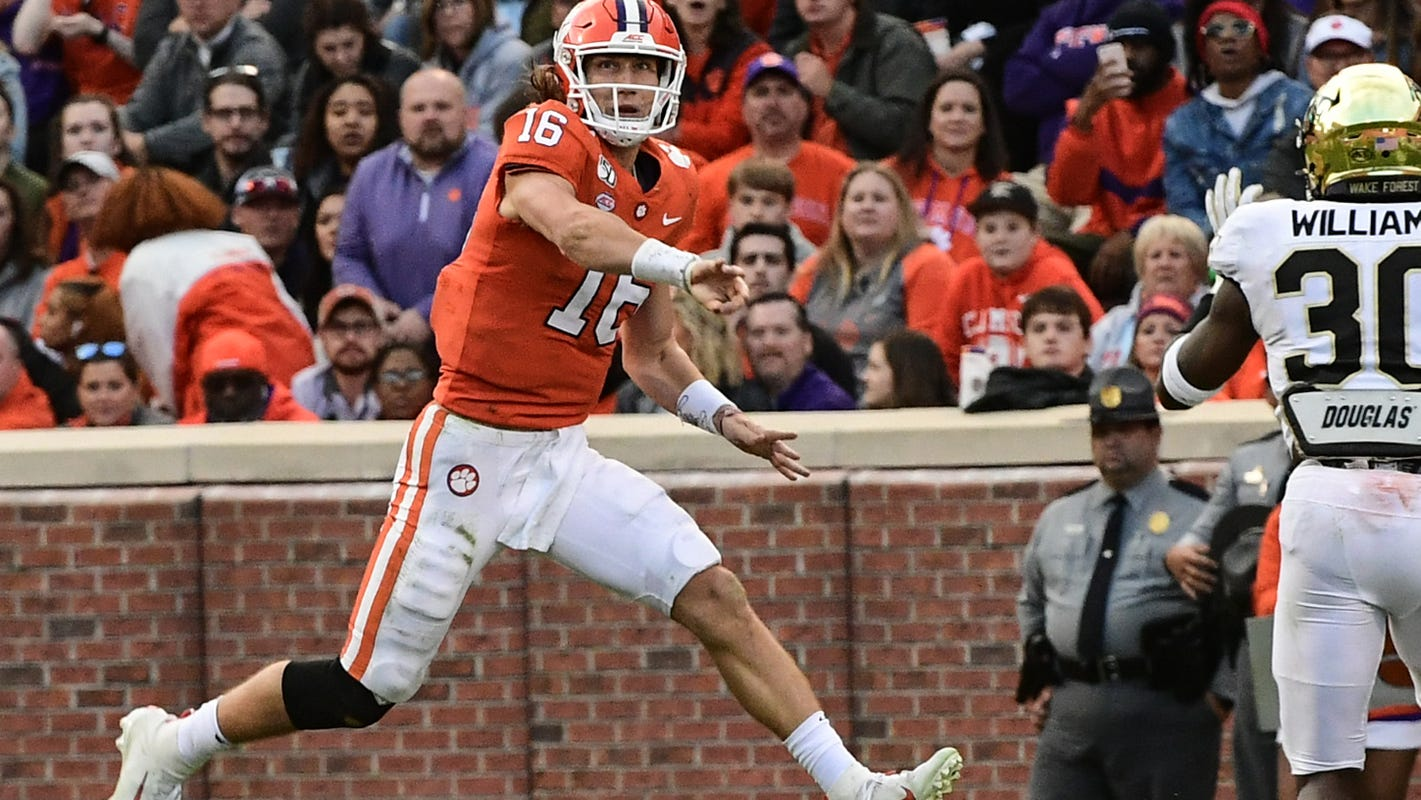 Clemson Qb Trevor Lawrence On A Roll For Undefeated And No