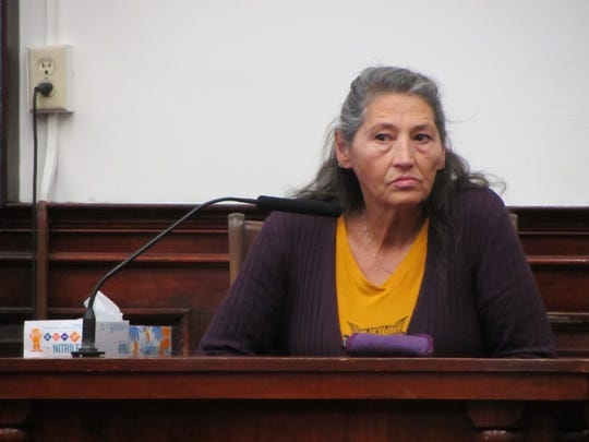 "Brandon Lee Craft's grandmother, Celina ""Tina"" Russell, testifies during Craft's homicide trial Friday, Nov. 15, 2019."