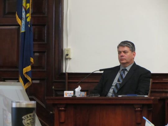 Detective Keith Perkins testifies at the homicide trial of Brandon Lee Craft Friday, Nov. 15, 2019.