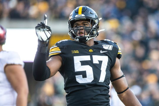 Iowa defensive end Chauncey Golston says he's feeling energized despite playing a heavy snap count this season.