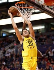 Pacers forward Doug McDermott  had 18 points Friday night.
