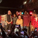 Bob Knight (center) is flanked by former players and ESPN's Sage Steele (an IU alum) at The Bluebird in Bloomington on Saturday.