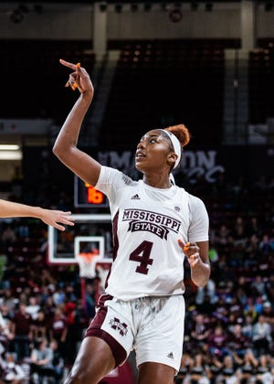 Mississippi State center Jessika Carter.