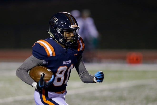 Zion King had two receiving touchdowns and a punt return touchdown for Harrison in a 54-0 win over Logansport on Friday.