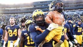 After rare blowout win, Michigan players waved Spartans off the field