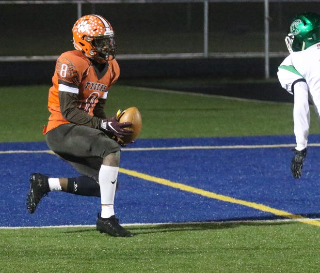 Mansfield Senior's Angelo Grose was named the Division III Northwest District Defensive Player of the Year.