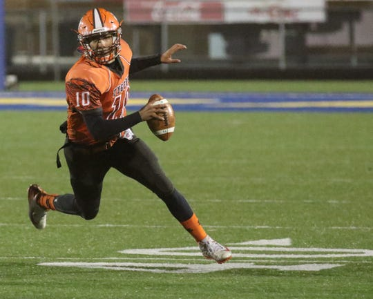Mansfield Senior's Cameron Todd racked up 242 total yards in Friday night's win over Holy Name.