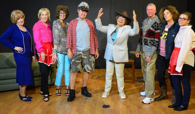 "The cast of ""A Doublewide, Texas Christmas."""