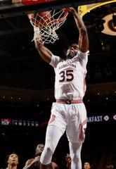 Auburn guard Devan Cambridge (35) dunks against CSUN on  Friday, Nov. 15, 2019 in Auburn, Ala.