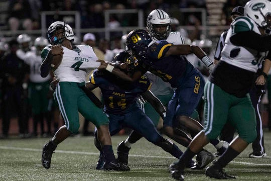 Photos from Naples High School's 6A regional semifinal game against Miami Central, Friday, Nov. 15, 2019, at Staver Field in Naples.