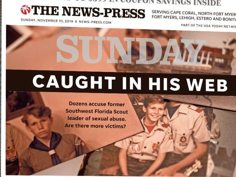 Dark secrets of a trusted Boy Scout leader surface after being hidden for decades.