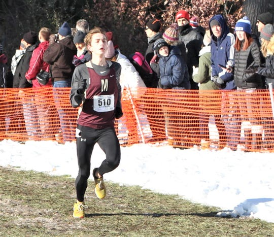 Pittsford Mendon's Sam Lawler paced Class B runners at the Cross Country State Championships on Saturday at SUNY Plattsburgh.