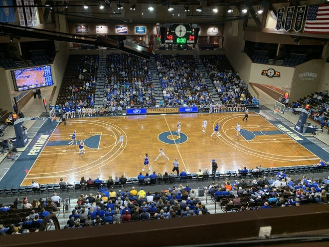 South Dakota State and Dakota Wesleyan met up at the Sanford Pentagon Friday night.