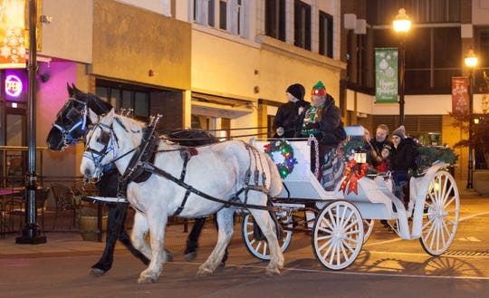 There will be free carriage rides, free skating at Jordan Valley Ice Park and free hot chocolate during Saturday's holiday kickoff in downtown Springfield.