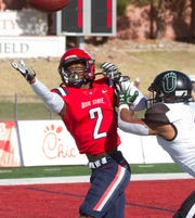 Dixie State's Jalen Powell (2) scored a touchdown during the Trailblazers' 35-10 win over the Adams State Grizzlies on Saturday, Nov. 16.