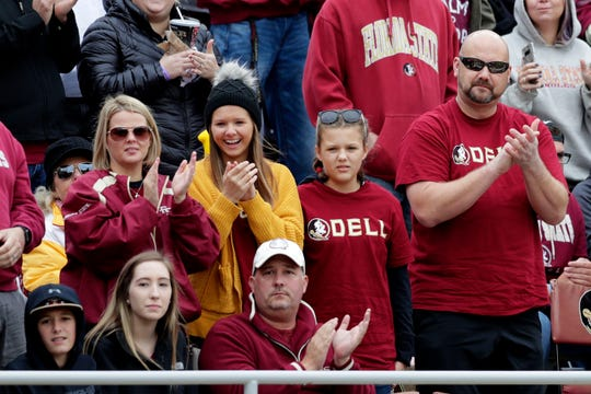 Seminole fans toughed out the cold weather to cheer the team on to a victory over Alabama State.