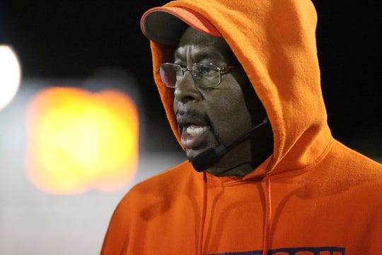 Jefferson County interim head coach Rodell Thomas watches as Taylor County beat Jefferson County 42-6 during a Region 2-1A semifinal playoff game on Nov. 15, 2019.